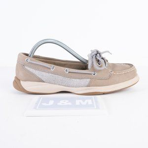 Sperry grey suede leather boat shoe size 7